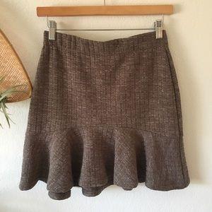J.O.A Brown Sweater Skirt